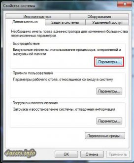 увеличение быстродействия Windows